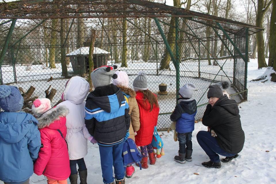 Woliera w parku w Dobrzycy