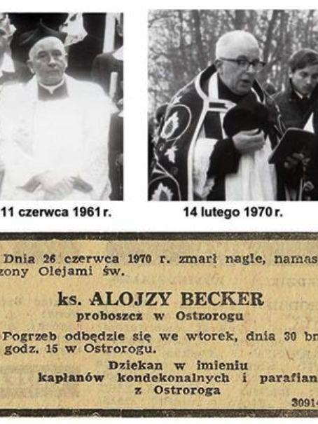 50 lat temu Ostroróg pożegnał proboszcza