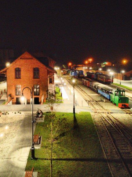 Dawny dworzec w oku kamery