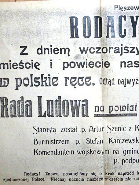 102 lata temu Polska wróciła do Pleszewa