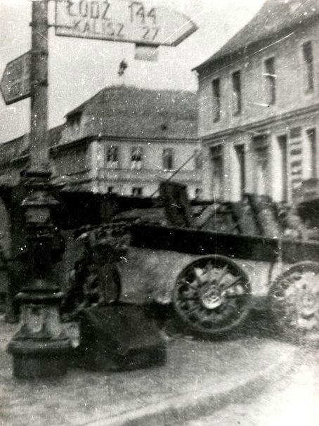 Wyzwolenie Pleszewa z wybuchem czołgu