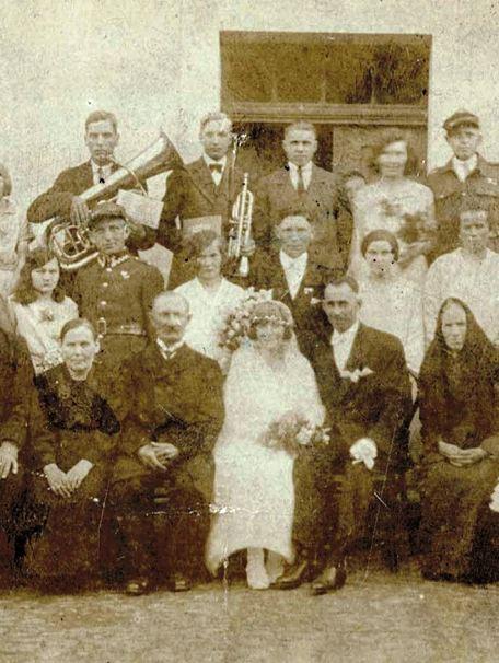 Ślubne zdjęcie Marii i Ignacego z Ostroroga