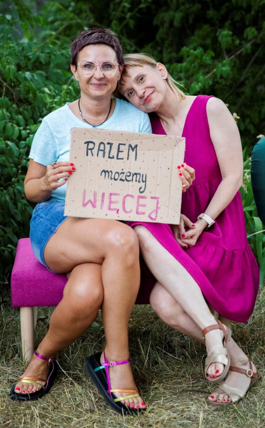 Zuzanna Szczudlik i Lucy Roszak